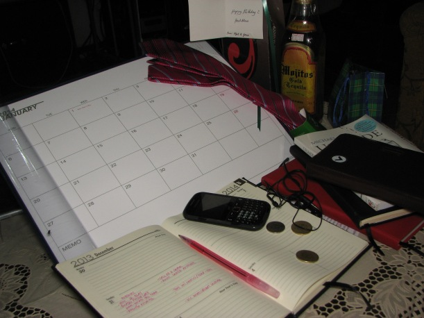 Calendar and Planner to begin a New Year 2014